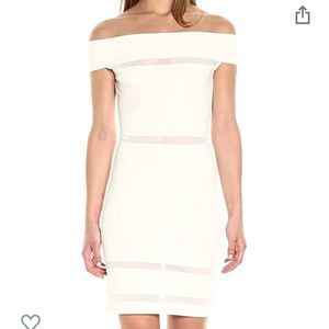 French Connection Off the Shoulder White Dress